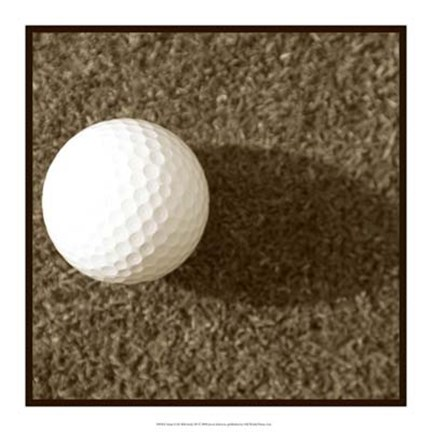 Framed Sepia Golf Ball Study III Print