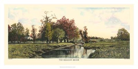 Framed Meadow Brook Print