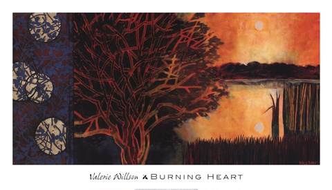 Framed Burning Heart Print
