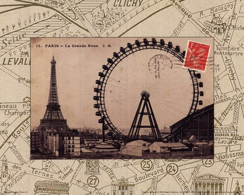 Framed Destination Paris IV Print