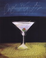Dry Martini with Olive