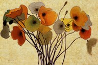 Pumpkin Poppies I Art