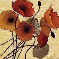 Pumpkin Poppies II Art