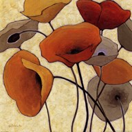 Pumpkin Poppies III Art