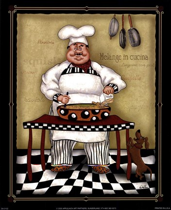 Stirring Chef Fine Art Print By Dena Marie At