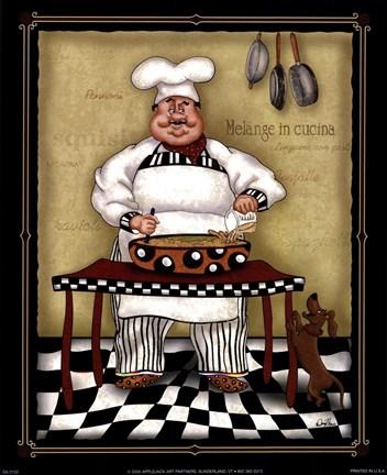 Stirring Chef Fine Art Print By Dena Marie At