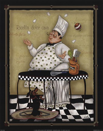 Juggling Chef Fine Art Print By Dena Marie At