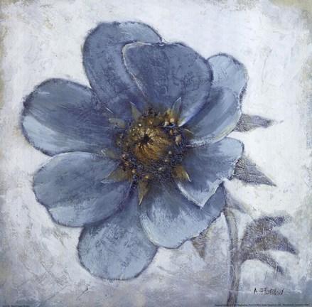 Blue Poppy Single Fine Art Print By Adelene Fletcher At