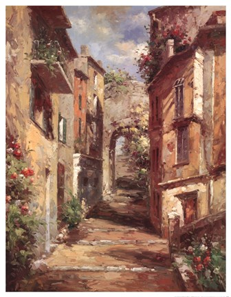 Tuscan Village Fine Art Print By Normand Mayer At