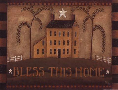 Framed Bless This Home Print