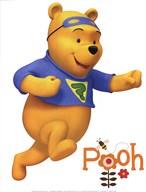 My Friends Tigger & Pooh: Pooh  Fine Art Print