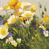Poppies and Pansies I Art