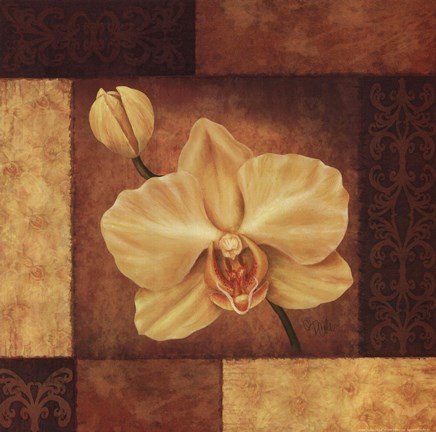 Framed Golden Orchid Print