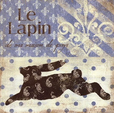 Framed Le Lapin Print