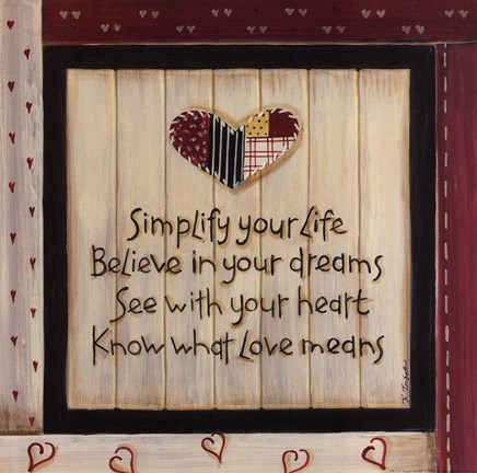 Framed Simplify Your Life Print