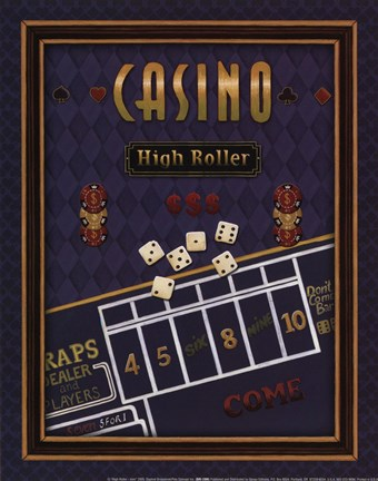 Framed High Roller (Craps) Print
