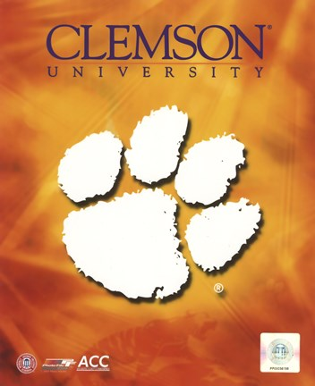 Framed 2008 Clemson University Team Logo Print