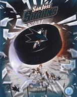 2008 San Jose Sharks Team Logo  Fine Art Print
