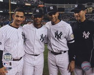 Jorge Posada, Mariano Rivera, Derek Jeter,& Andy Pettitte Final Game At Yankee Stadium 2008