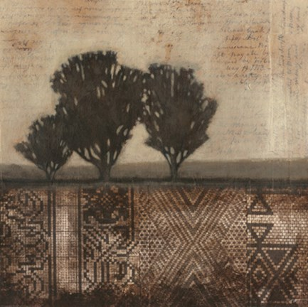 Framed Earthen Textile II Print