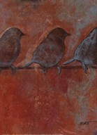 Row of Sparrows II  Fine Art Print