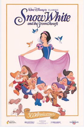 Framed Snow White with the 7 Dwarfs Print