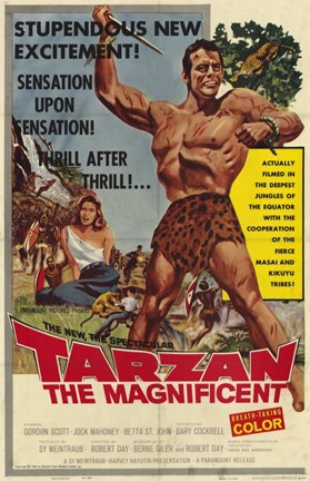 Framed Tarzan the Magnificent, c.1960 Print