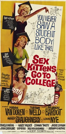 Framed Sex Kittens Go to College Print