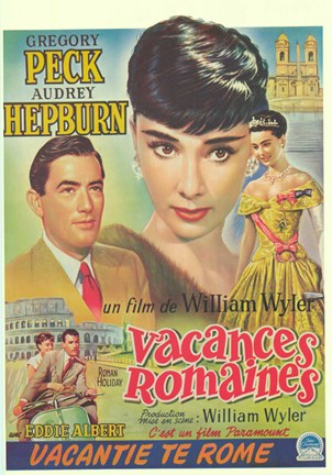 Framed Roman Holiday (french) Print