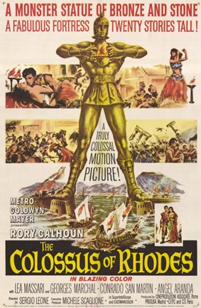 Framed Colossus of Rhodes Print