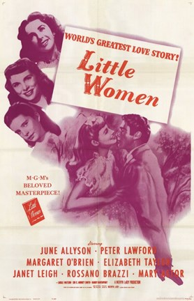 Framed Little Women - purple Print