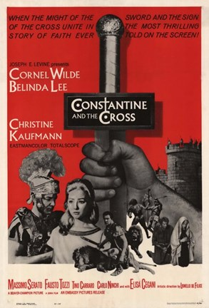 Framed Constantine and the Cross Print