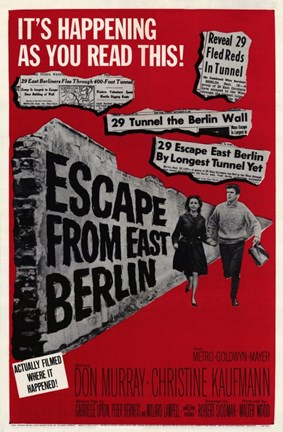Framed Escape From East Berlin Print