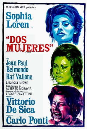 Framed Two Women Dos Mujeres Film Spanish Print