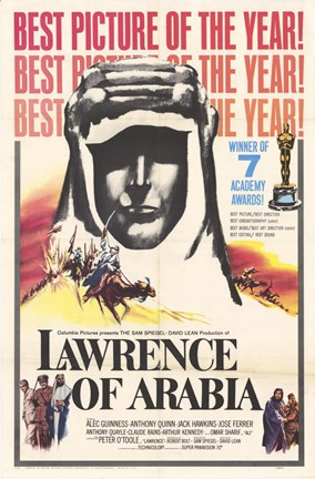 Framed Lawrence of Arabia Best Picture of the Year Print