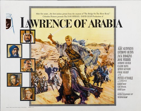 Framed Lawrence of Arabia Cast Horizontal Print