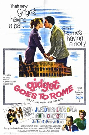 Framed Gidget Goes to Rome Print