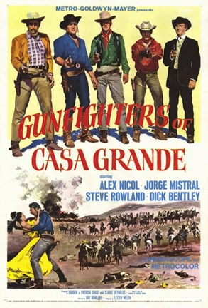 Framed Gunfighters of Casa Grande Print