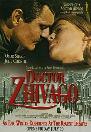 Framed Doctor Zhivago Kissing Print