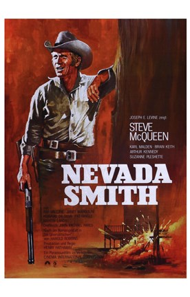 Framed Nevada Smith - Red Print