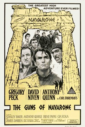 Framed Guns of Navarone - Black and white Print