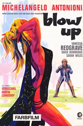Framed Blow Up Vanessa Redgrave Michelangelo Antonioni Print