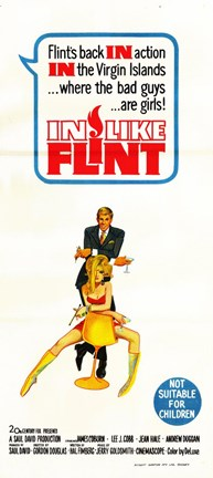Framed In Like Flint Movie Print