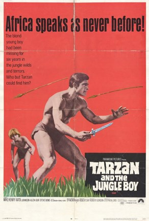 Framed Tarzan and the Jungle Boy, c.1968 Print