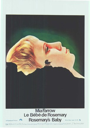 Framed Rosemary's Baby Mia Farrow French Print