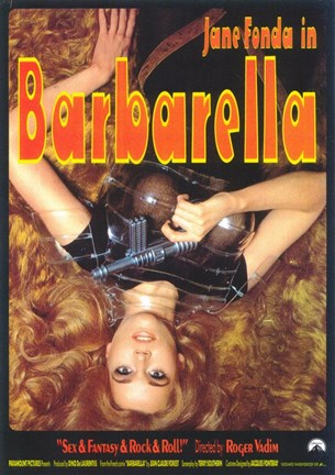 Framed Barbarella Sexy & Fantasy & Rock & Roll Print