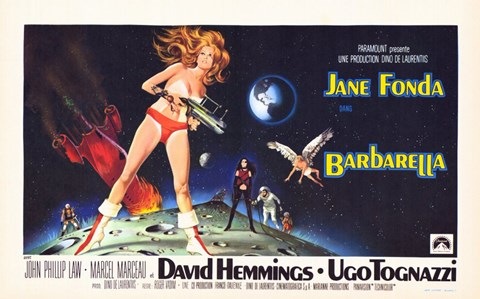 Framed Barbarella David Hemmings Print