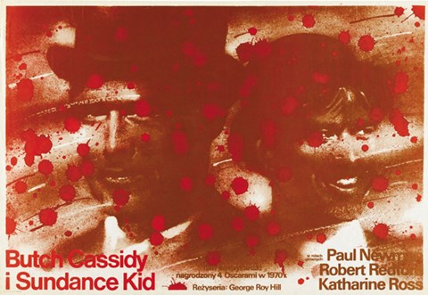 Framed Butch Cassidy and the Sundance Kid Blood Splatter Print