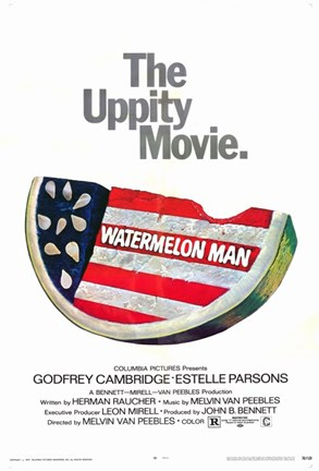 Framed Watermelon Man Uppity Movie Print