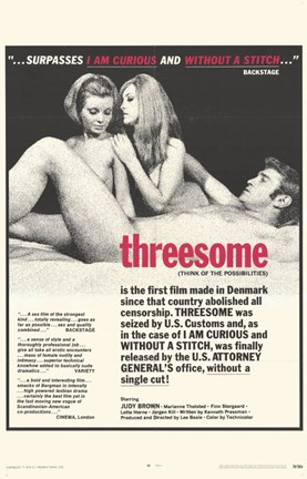 Framed Threesome (movie poster) Print